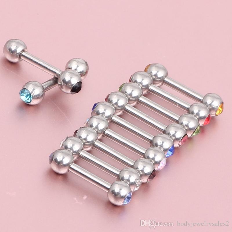 Ny ankomst helix öronring 50st / ES06 kropps smycken ferido cystal