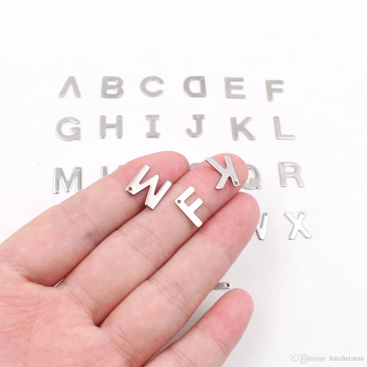 A-Z acciaio inossidabile lettera / piccolo ciondolo fai da te accessori all'ingrosso strumento ETSY