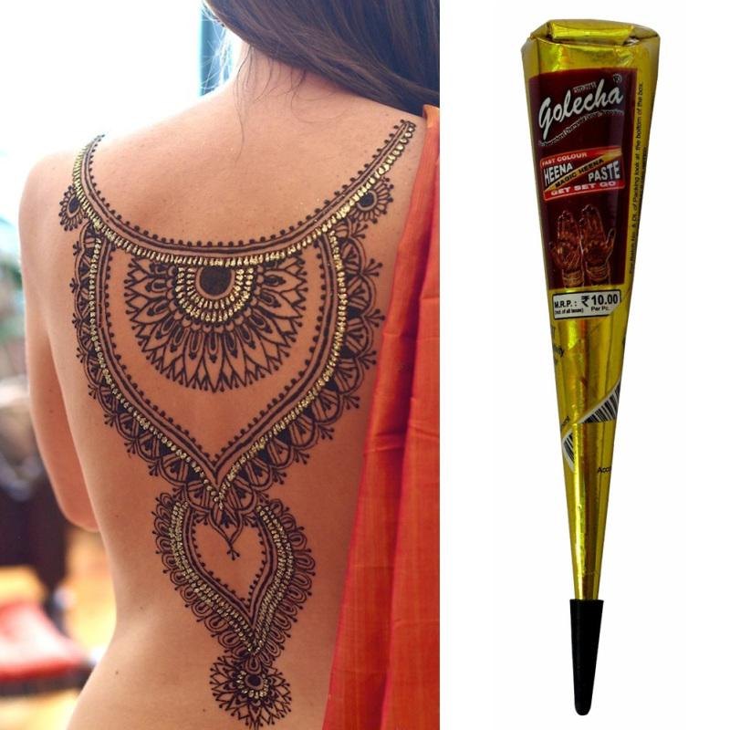 Mehndi Black Henna Tattoo Paste Cone Temporary Flash Tattoo Body Art