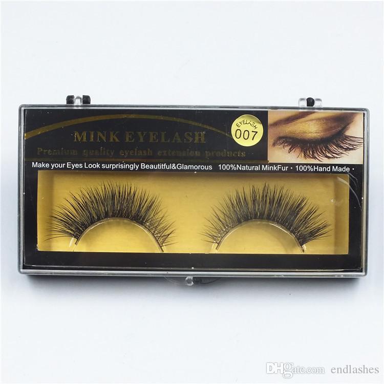 19 Estilos 1 Par de Qualidade Premium Cílios Falsos Handmade Real Mink Peles De Pele Cílios Macio Falso Eye Lash Extensão Faixa Completa cílios