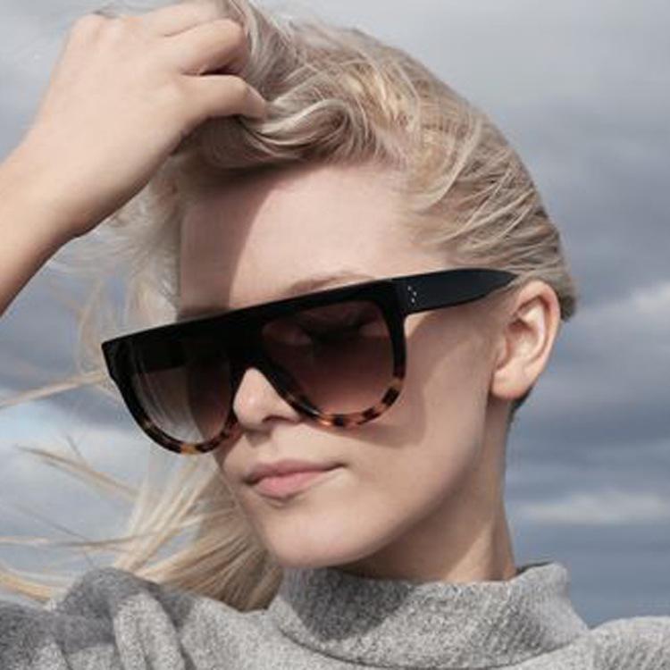 47739e61c07 Wholesale 2016 New Italy Luxury Brand Designer Fashion Women Sunglasses  Oversize Female Flat Top Vintage Ladies Sun Glasses Men Eyewear Baby  Sunglasses ...