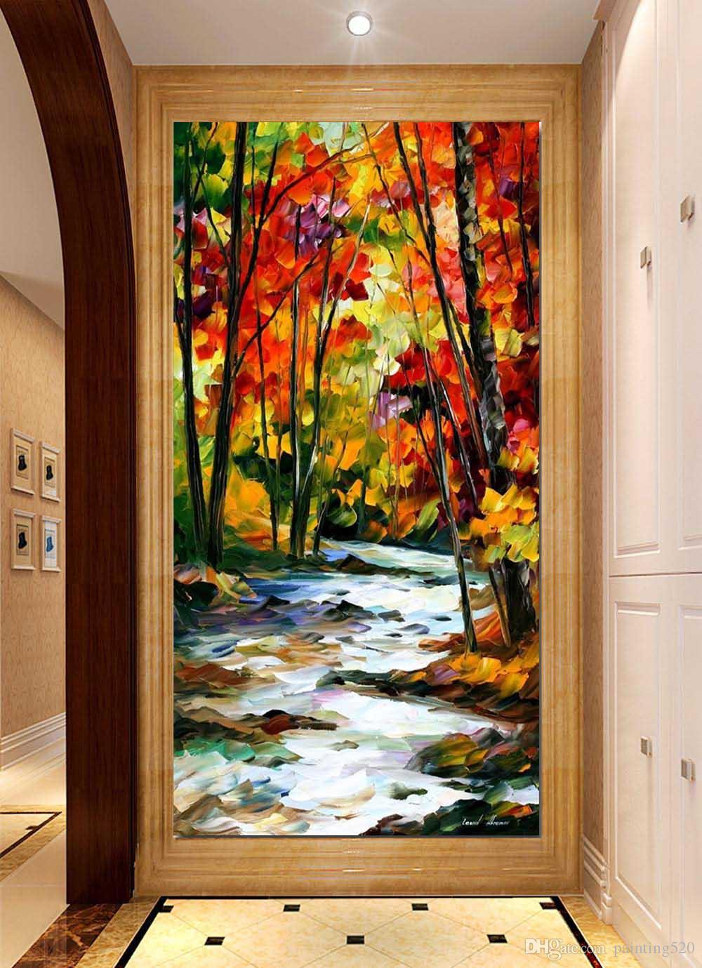 Alta calidad moderna sala de estar simple estilo decorativo pintura al óleo de la lona pintada a mano paleta de pintura al óleo JL428