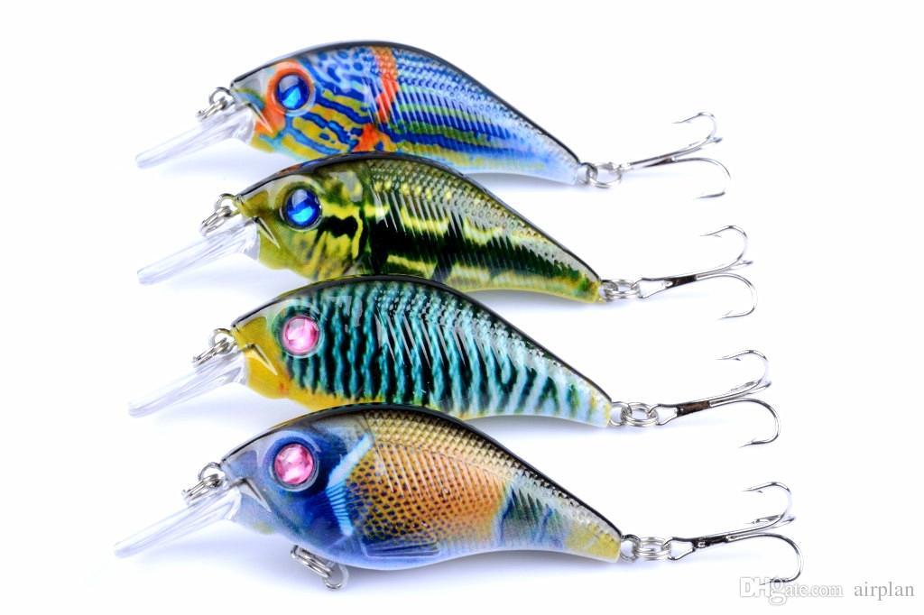 of Plastic Fake Lures Fish Fishing Bionic Topwater Fishing Lure Artificial Bait Hard Crankbait Pesca Tool Hooks