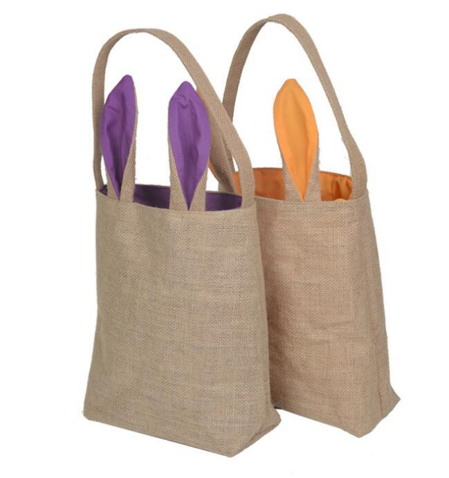 Dhl free easter bunny bag cute rabbit ears bags cotton burlap see larger image negle Choice Image