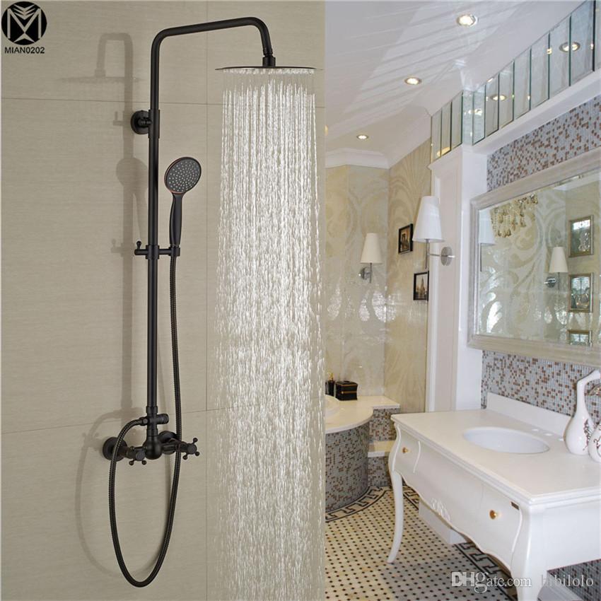 2018 Yanksmart Oil Rubbed Bronze Bathroom Rain Shower Faucets Orb ...