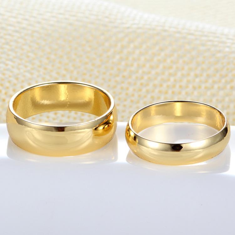 Couple Rings Gold Engagement Ring For Men Women Alliance Casamento