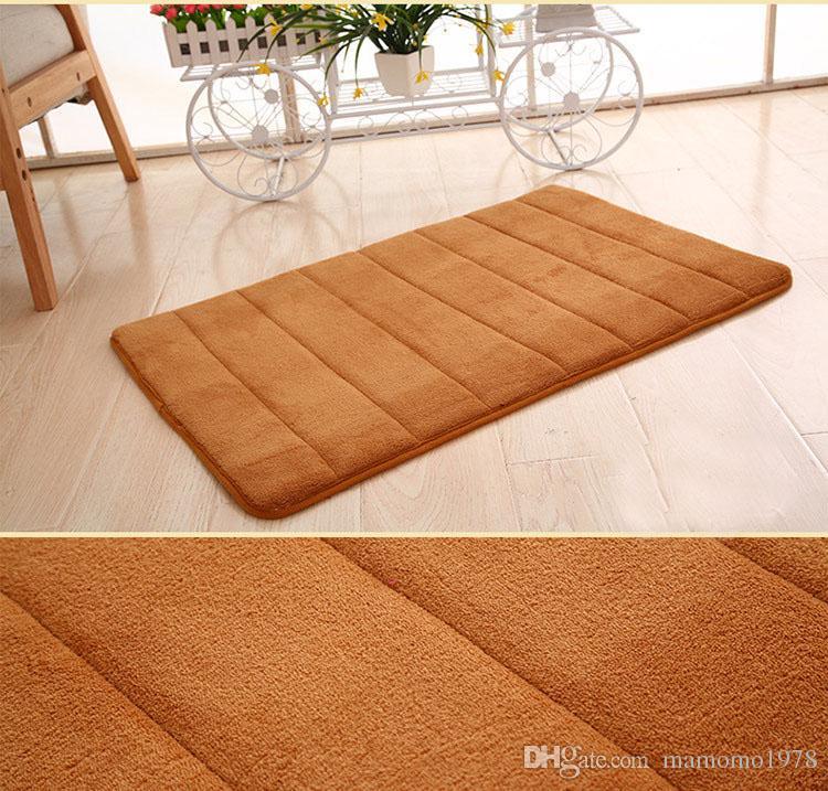 Mejor venta 40x60cm alfombra de baño Baño dormitorio antideslizante Esteras de espuma de memoria alfombra de la manta de ducha para baño Cocina CD002