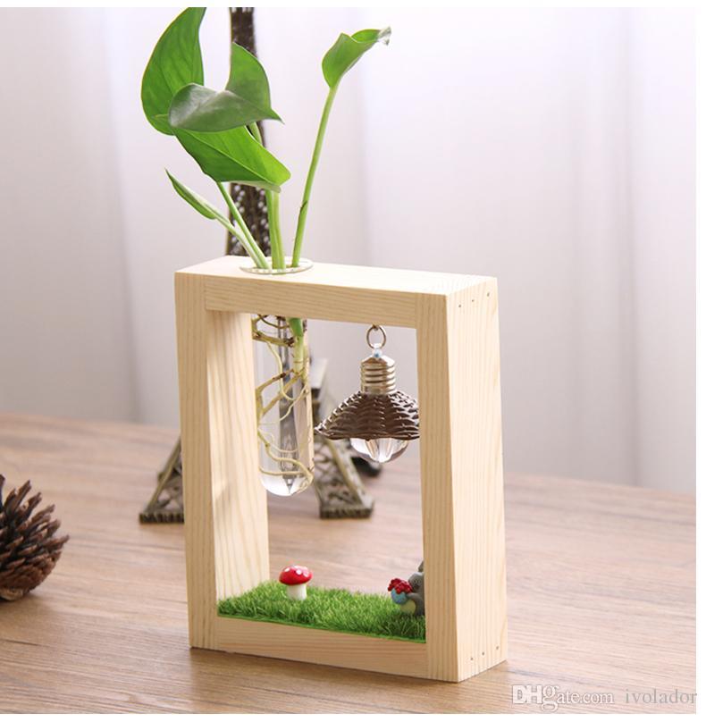 Ivolador Test Tube Vase Plant Stand Flower Pots Mini Night Light For
