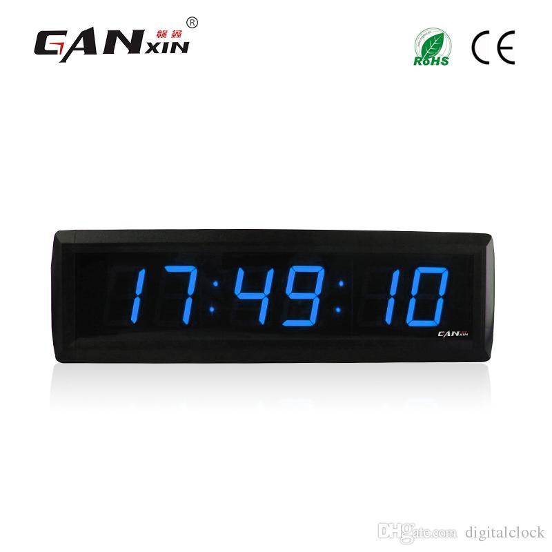 Ganxin 18 Inch 6 Digits Blue Portable Digital Countdown Timer Clock