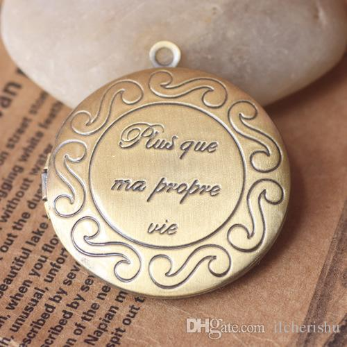 32*6MM Silver/antique bronze/rose gold/black gun word message inspirational photo locket charms jewelry picture frame pendants wish amulet