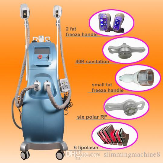 5 IN 1 cryotherapy Fat Freezing Slimming Machine Cool Cryo Ultrasound RF  Liposuction Lipo Laser facial cryo machine