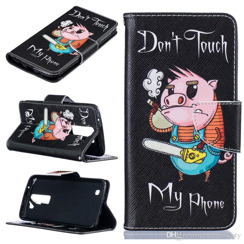 Electric saw pig pattern Wallet Leather Case For Motorola G4 G4 PLUS Back Stand Holder Credit Card Holder Slot Phone Cases