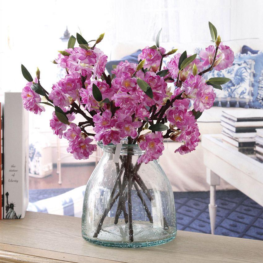 Artificielle Faux Fleur De Cerisier Fleur De Soie De Mariée Hortensia Home Garden Decor Parti De Mariage Décorations nouveau