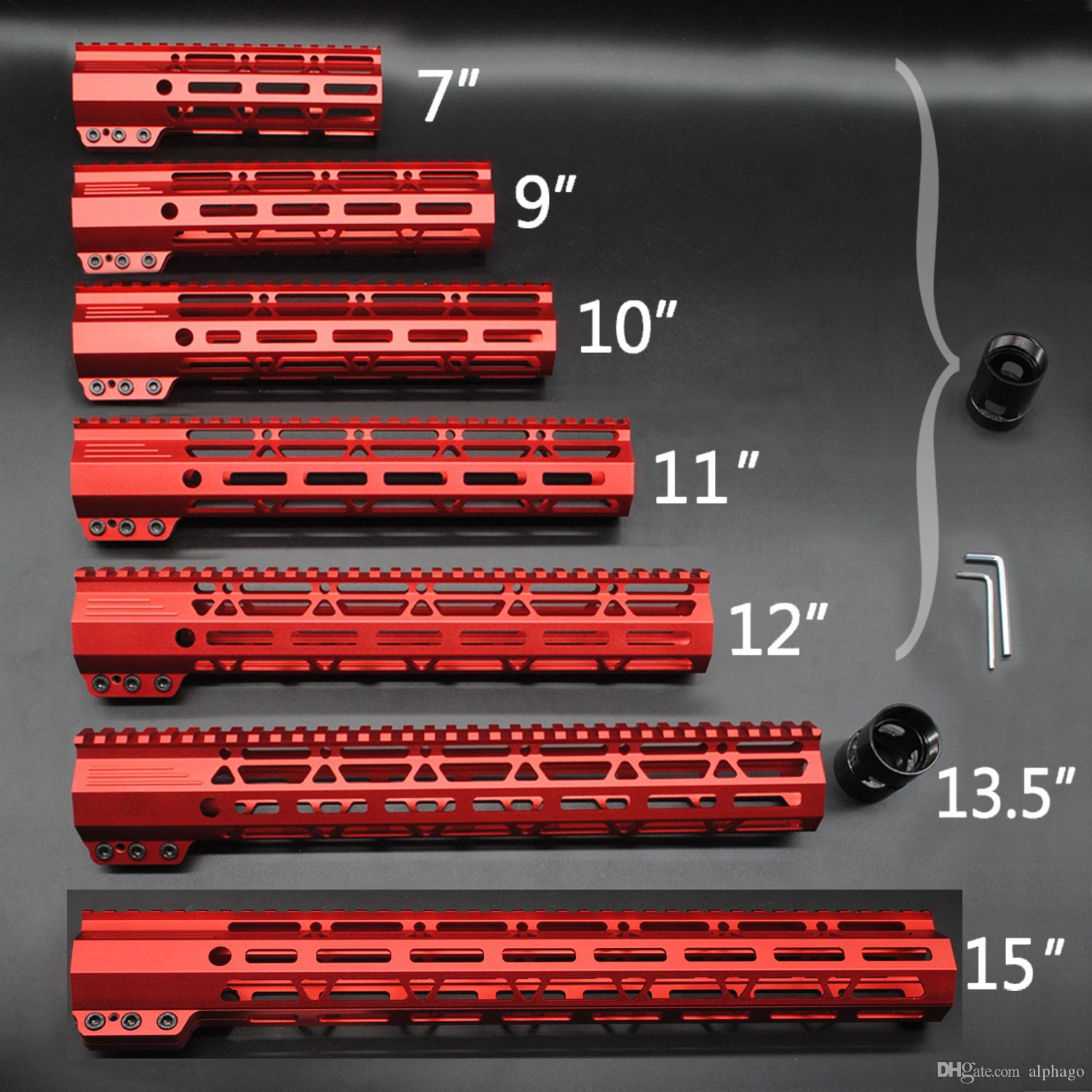2019 Red Anodized 7 9 10 11 12 135 15 Inch M Lok