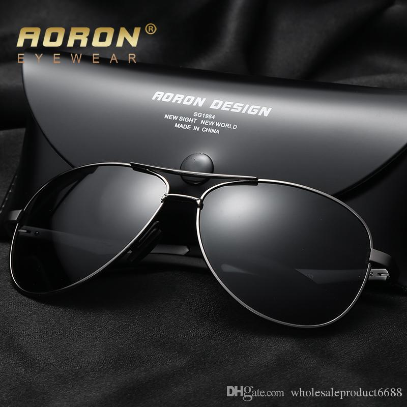 504631d625 2018 Aoron Brand Aluminum Magnesium Polarized Sunglasses Leisure Men S  Coating Glasses Oculos Male Cool Eyewear Accessories S161a Glasses For Men  Mens ...