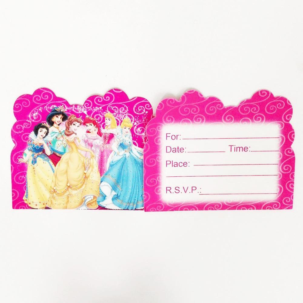 Wholesale Bag CinderellaArielSnow WhiteAuroraJasmine Princess – Ariel Birthday Party Invitations