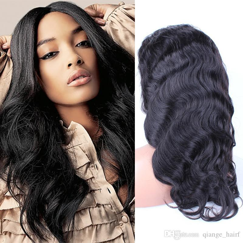 Full Lace Human Hair Wigs Malaysian Body Wave Lace Front Wigs Malaysian hair wigs Natural Color Full lace wig for black women