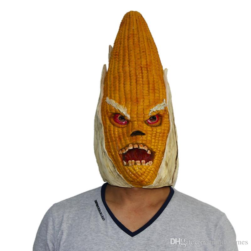 x merry toy deluxe novelty corn vegetables head masks for halloween costume party latex mask halloween prop halloween mask cosplay masks online with