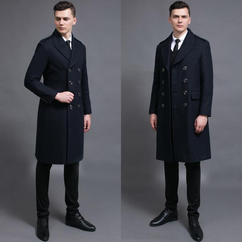 82f5539452ac 2019 Wholesale Long Black Wool Coat Male 2016 Spring And Autumn ...