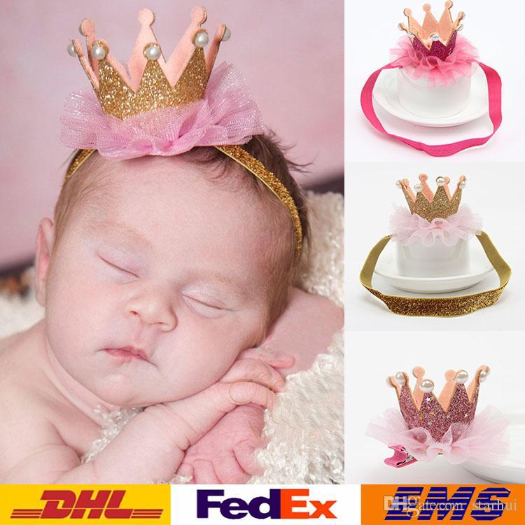 Acheter Nouveau Bebe Couronne Cheveux Bande Infantile En Epingle A