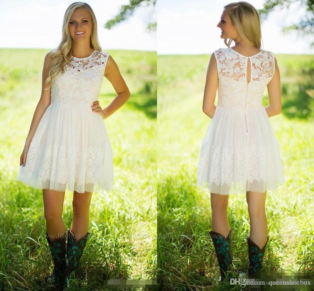 country style wedding dresses 2017 country style ivory lace bridesmaid dresses 3111