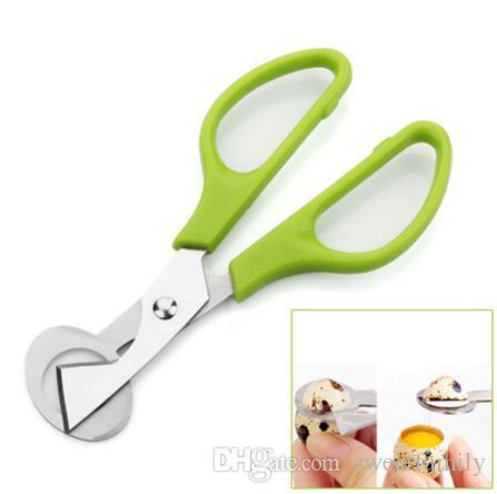 Quail Scissors Egg Cutter Green Hand Simple Eggs Opener Stiring ECO Friendly Metal Kitchen Gadgets Egg Tools