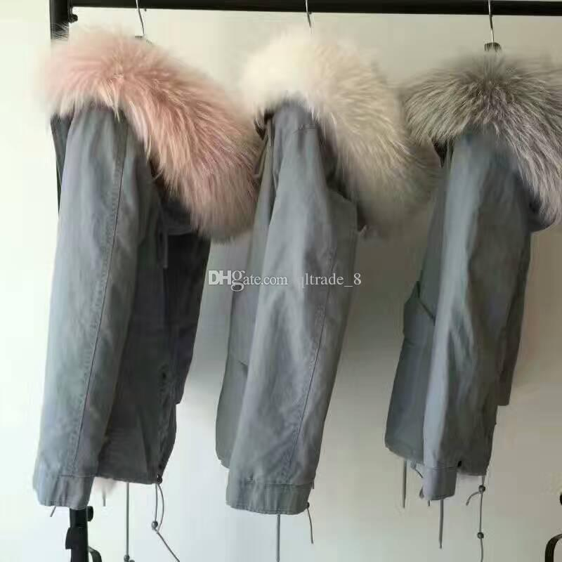 2018 Qltrade_8 Beauitful 4 Colours Grey Blue Parka Mr Mrs Itlay ...