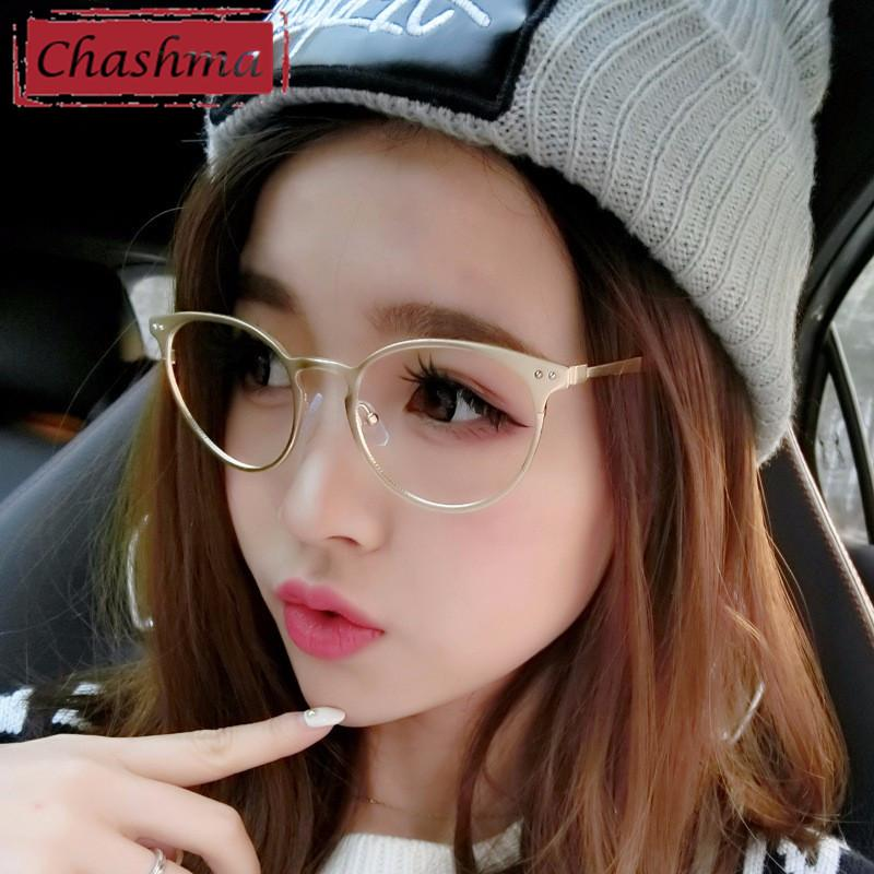 efcf106dd2c 2019 Wholesale Chashma New Eye Glasses Frame Retro Korean Style Alloy  Material Myopia Glasses Frame Round Eyeglasses From Juemin