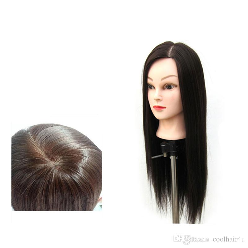 """22"""" 100% Synthetic Hair Training Head Student Mannequin Hairdressing Practice Makeup Cut Hair + Clamp"""