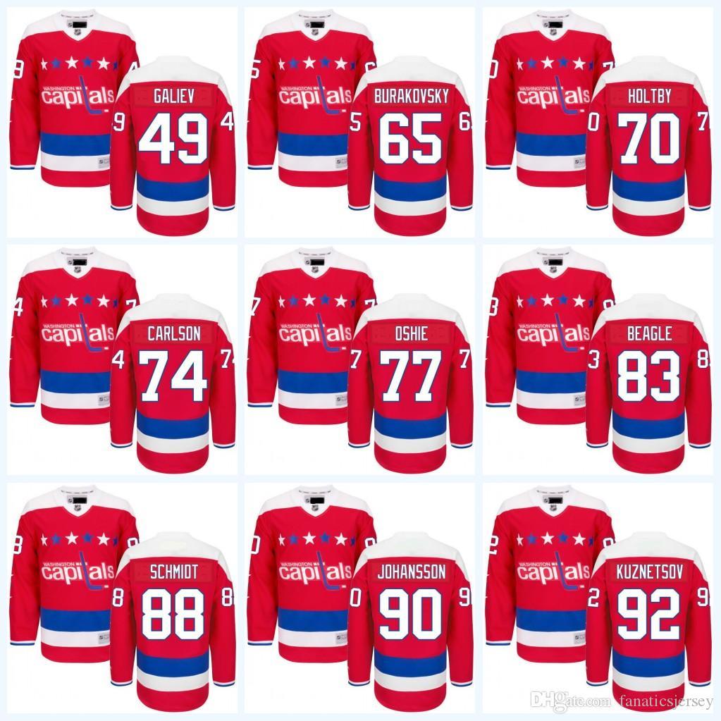 ... 2017 Washington Capitals Custom Mens Classic Red Hockey Jerseys 77 T.  J. Oshie 65 Andre Burakovsky 70 ... 7d79b344d