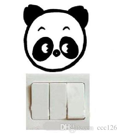 Panda cute switch laptop cup family Wall stickers decoration decor home decals fashion waterproof bedroom living sofa