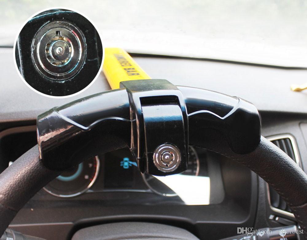 2016 Evrensel T Stil Oto Güvenlik Direksiyon Kilidi Araba Alarmı Anti-hırsızlık Cihaz Sert Çelik Konstrüksiyon ile Ekstra Güvenli