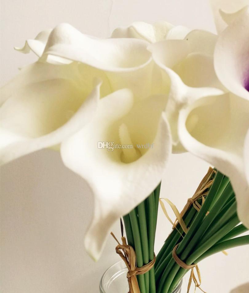 callas látex calla lily artificial real touch lily flor callas para bouquet de nupcial Centerpieces decoração de casa