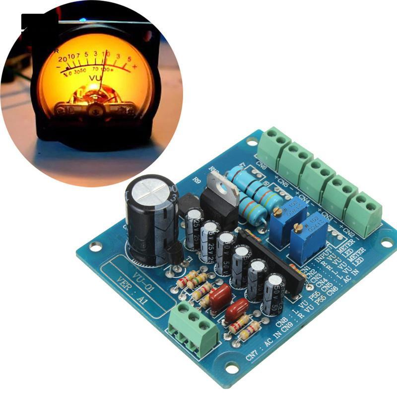 AC 12V Stereo VU Meter Driver Board Amplifier DB Audio Level Input ...