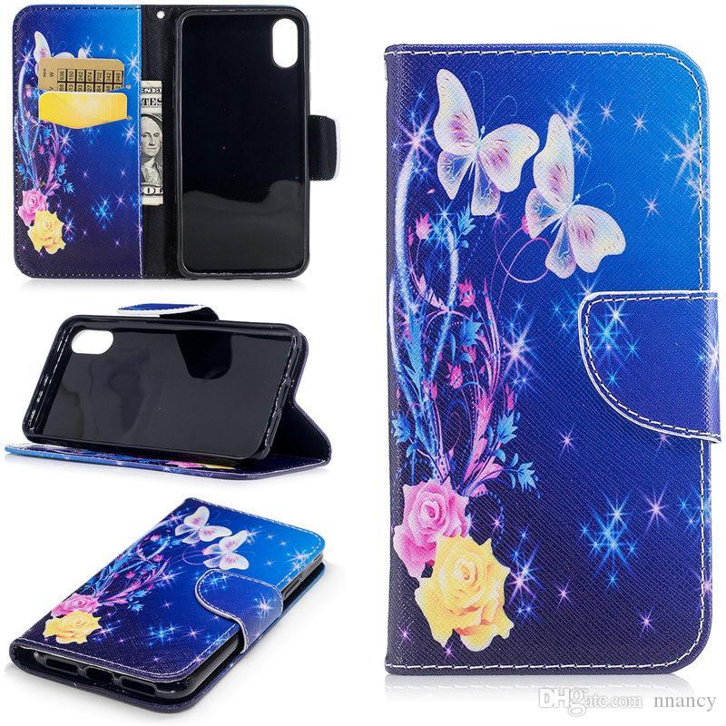 Роскошные Окрашенный чехол для Iphone 8 Iphone 6 7 Plus чехол противоударный Shell бумажник флип чехол Премиум PU кожаный чехол