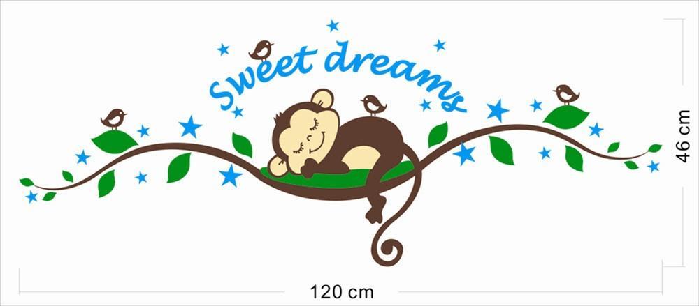 صفيق القرد القابلة للإزالة الجدار ملصق لصائق الفينيل ديكور الحضانة كيد الطفل 25 * 70 سم