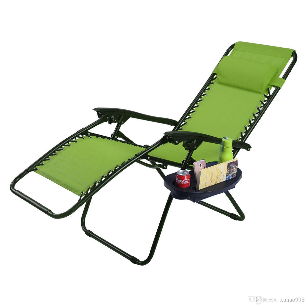 2018 Folding Zero Gravity Reclining Lounge Chairs Outdoor Beach Patio W Utility Tray From Xuhao998 33 17 Dhgate Com
