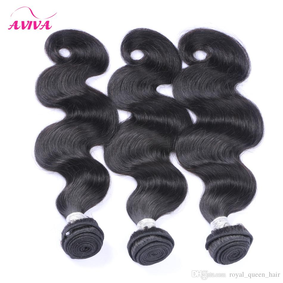 Brazilian Virgin Hair Body Wave 9A Grade Malaysian Cambodian Indian Peruvian Remy Human Hair Weaves Bundles Natural Color Extensions Dyeable