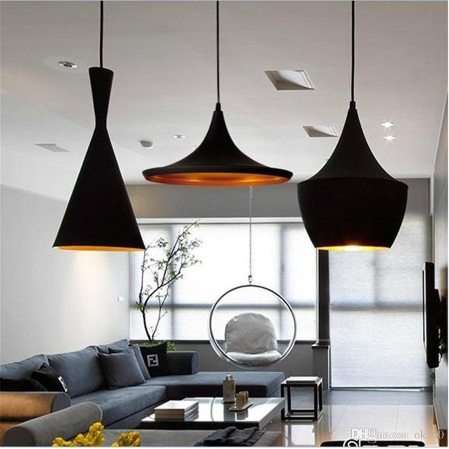 Living room hanging lights - Discount Tom Dixon Pendant Lamps Beat For Home Living Room Dining Room Hotel Bar Ac110 240v Modern Abc Models Pendant Lights Chandeliers Led Lighting Dining