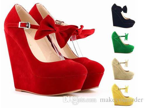 ab48fa494 Wholesaler Factory Price Platform Wedges Women S Shoes High Heel Roman Club  Europe And The Bowknot Women Shoe Shoes Online Basketball Shoes From ...
