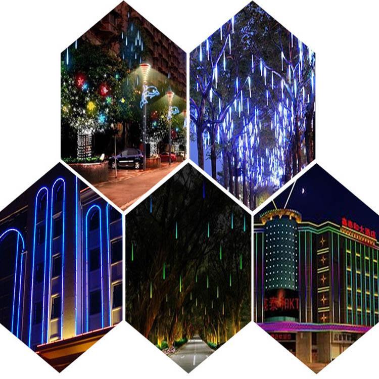 Christmas light Meteor lights LED outdoor christmas lights Ice tubes 80cm tube LED fairy light strings colorful neon AC85-265V