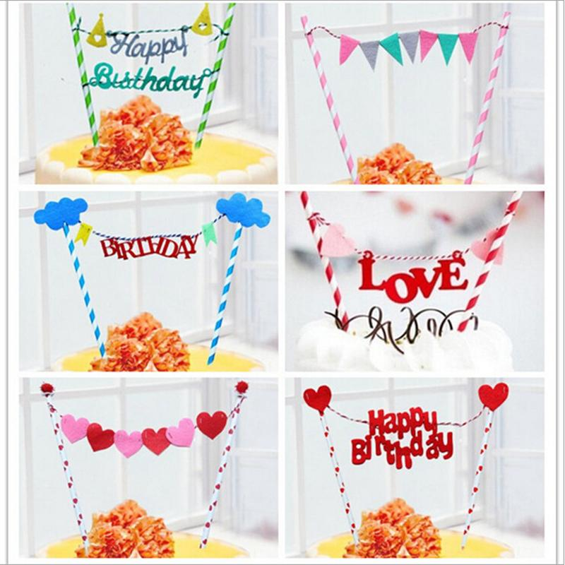 2019 Wholesale Rainbow Flags And Banners Cupcake Toppers Birthday Cake Topper Kids Party Supplies Baby Shower Girl From Asite 3276