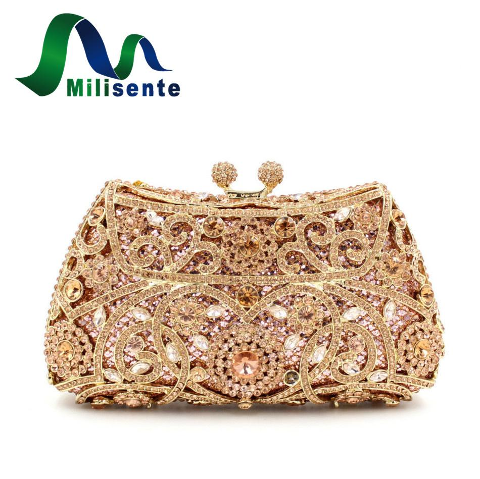 c7dc94cbed Wholesale New Arrival Clutch Purse Silver Gold Sale Price Crystal Evening  Bag Women Wedding Party Bridal Handbags Champagne Handbags On Sale Leather  Bags ...