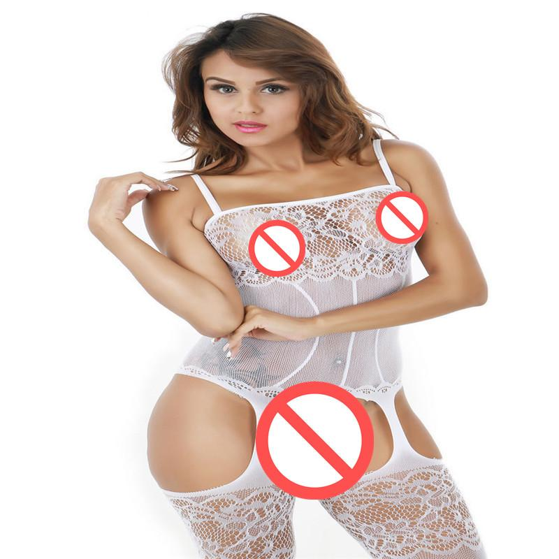 ملابس داخلية مثيرة للمرأة شفافة جوفاء من الجوارب خيطي ضيقة صافي ملفات مفتوحة الملتصقة عزى الزي