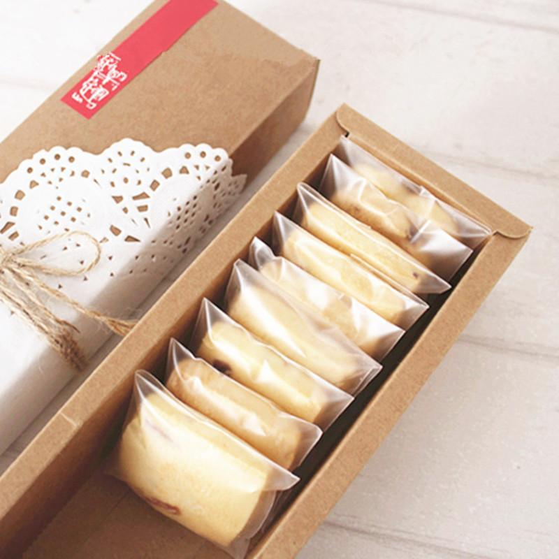 Self adhesive frosted cookie bags self seal plastic cookie pack gift bags for bakery packaging 200 pcs counts