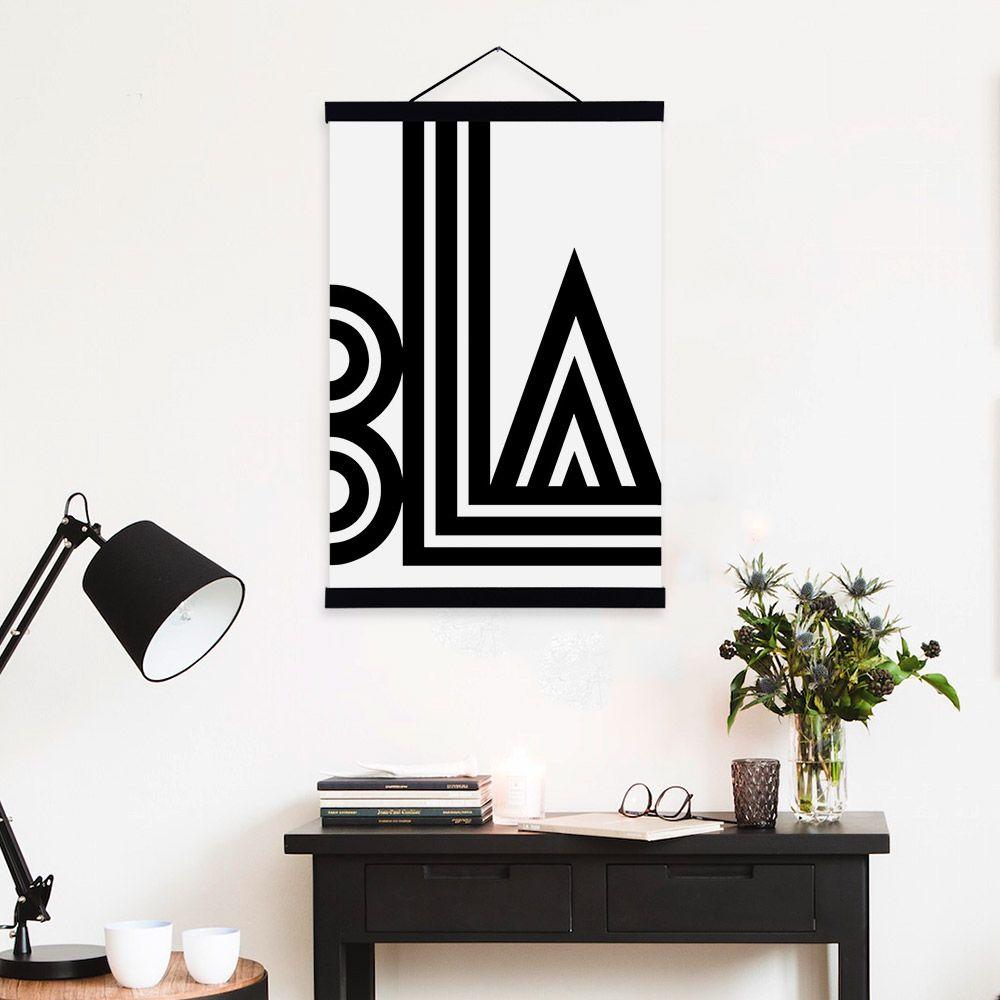 Großhandel Mild Art Moderne Abstrakte Bla Schwarz Weiß Minimalistischen  Typografie Pop Poster Drucke Schlafzimmer Home Wand Zitate Decor  Einzigartiges ...