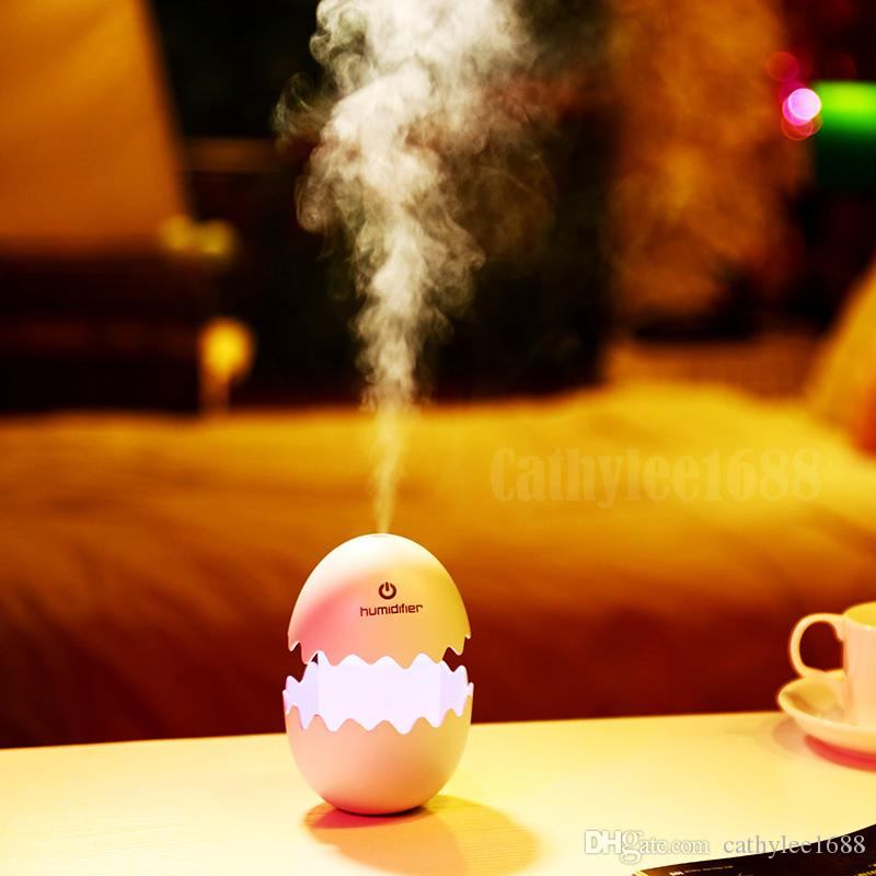 New Fashion Fun Egg Cartoon Aromatherapy Essential Oil Diffuser LED Lights Ultrasonic Cool Mist Aroma Air Humidifier for Office Baby Bedroom