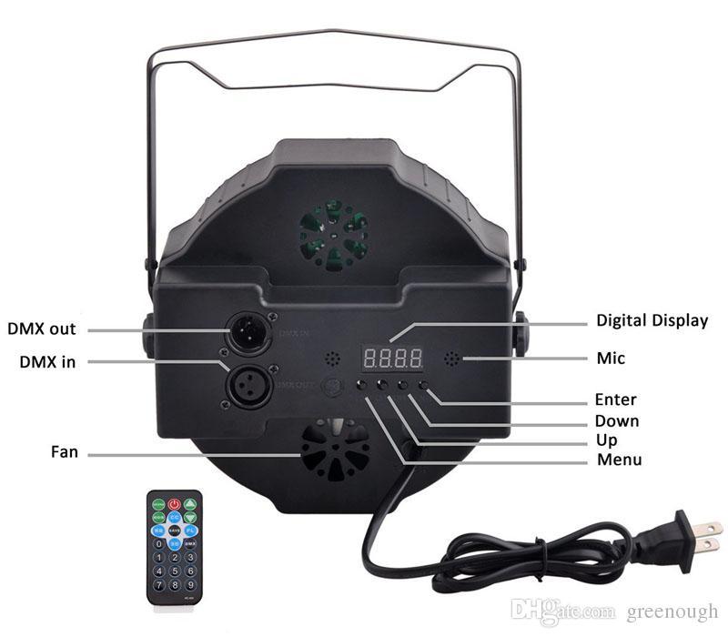 LED Par Light RGB Magic Effect Stage Lighting Remote Control DMX512 Professional Led Stage Light For Party, KTV, Bar, Wedding