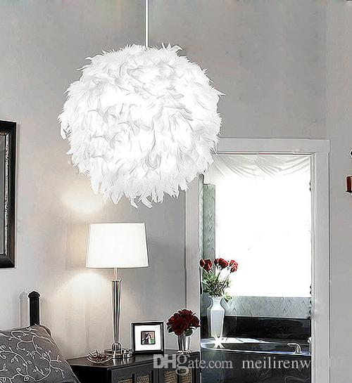 Feather round white modern ceiling light pendant lamp living room feather round white modern ceiling light pendant lamp living room fixture chandelier pendants lights lighting pendant from meilirenwu007 9046 dhgate aloadofball Image collections