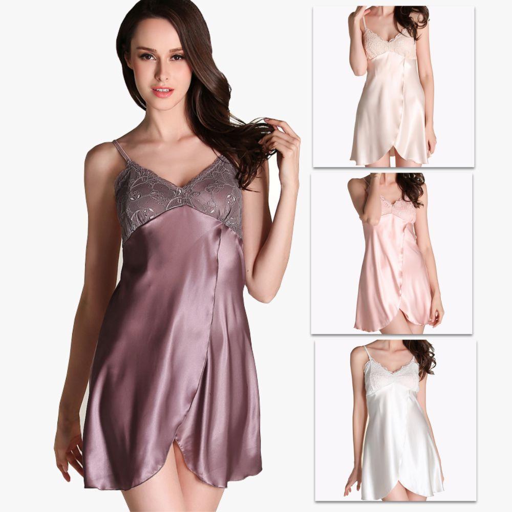 c61f7b0ec1 2019 Sexy Lingerie Kimono Dress Silk Lace Sleepwear Dress Pyjamas Sexy  Customs For Women Langerie Nightwear Sex String Robe Underwear Bath Robe  From Ccyes